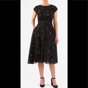 eshakti Dresses & Skirts - New Eshakti Moon Stars Fit & Flare Dress 22W