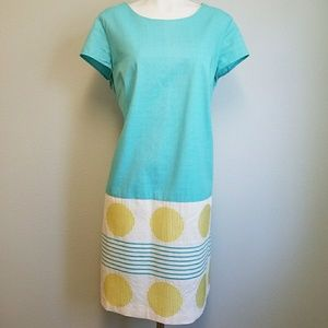 Boden Dresses & Skirts - Boden Shift Dress with embroidered circle design