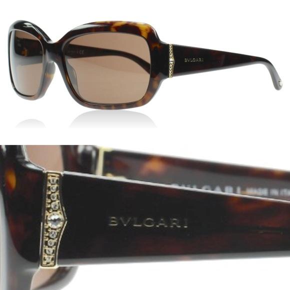 bbef797048a Bulgari Accessories - Bulgari 8052 B Sunglasses Crystal Havana