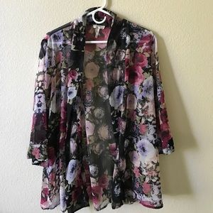 PacSun Sweaters - Floral Open Front Cardigan