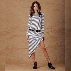 NYTT Dresses & Skirts - NYTT Striped Asymmetrical Dress