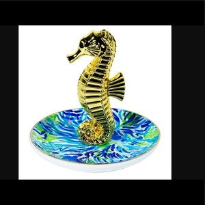Lilly Pulitzer Jewelry - NIB LILLY PULITZER SEAHORSE RING HOLDER