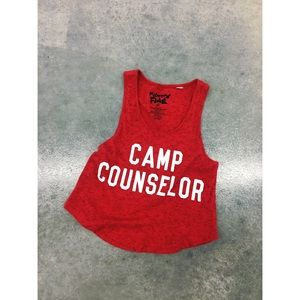 Mighty Fine Tops - Mighty Mine CAMP COUNSELOR festival tank top crop
