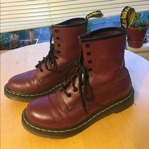 Dr. Martens Shoes - Burgundy Dr. Martins