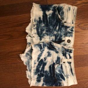 Pants - White washed denim shorts