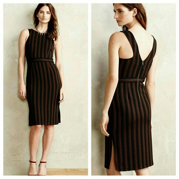 a7942de1af120 Anthropologie Dresses & Skirts - Anthropologie Maeve brown & black midi  dress