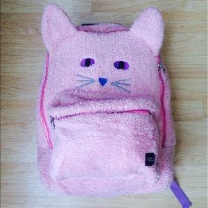 Lazy Oaf Handbags - LAZY OAF KITTY CAT SOFT PINK FUZZY BACKPACK
