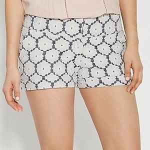 Maurices Pants - Shorts with white crochet pattern