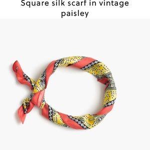 J. Crew Accessories - J crew silk Italian silk scarf in vintage paisley