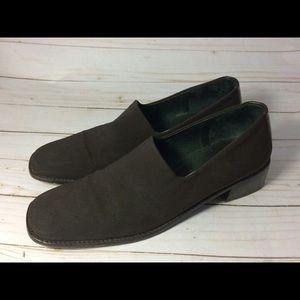 Donald J. Pliner Shoes - Donald Pliner Brown Elastic Fabric Trim Loafer