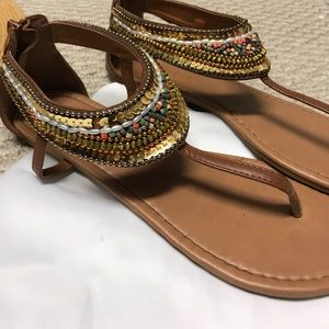 Brown tropical sandals