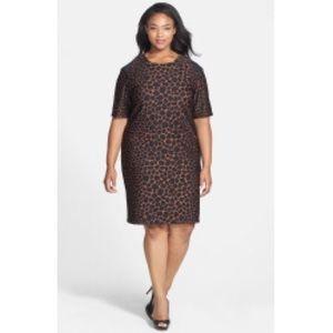 Taylor Dresses Dresses & Skirts - Taylor Animal Print Scuba Knit Dress