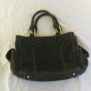 Kate Landry Handbags - Kate Landry wrist bag with Zebra calf fur