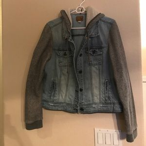 American Eagle Outfitters Jackets & Blazers - AEO Hooded Denim Jacket
