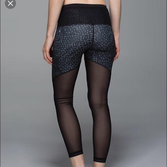 3820ee426c73a8 lululemon athletica Pants - Lulu Lemon Running in the City Mesh Leggings
