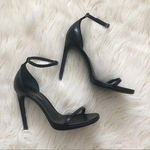 Saint Laurent black Jane sandal strappy heels 38