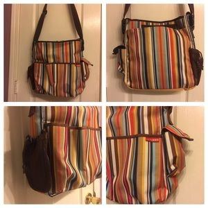 Skip Hop MultiColored Diaper Bag with changing mat