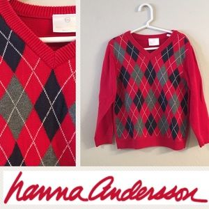 Perfect for the fall/winter! Red argyle sweater
