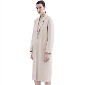 Acne studios d ring foin cream wool oversized coat