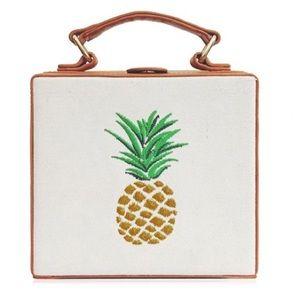 Handbags - 🍍Pineapple Embroidered box Bag🍍