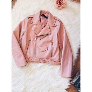 Zara Jackets & Blazers - FINAL❗️Zara Basic Vegan Cropped Moto Jacket SM