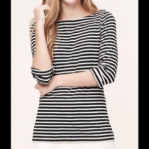 Ann Taylor Striped Boatneck Top