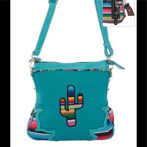 Handbags - Serape Cactus Cross Body Purse Messenger Bag