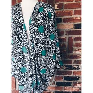 Vintage Jackets & Blazers - Vtg 90s Kimono silk Dot Abstract Jacket M L