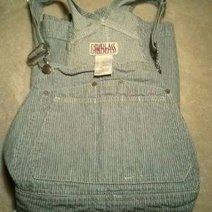 Bill Blass Denim - 80's vintage railroad overall shorts,