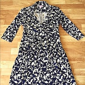 Lilly Pulitzer Blayney Horse print silk dress