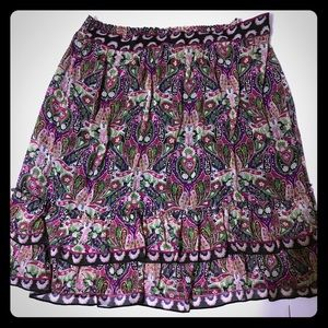 🎈SALE Plus size Purple Paisley Ruffle Skirt SK-46