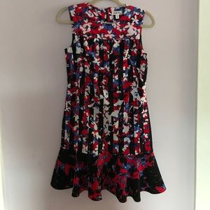 Peter Pilotto red white and blue floral dress