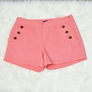 J. Crew Pants - J.Crew Side Button Pink Shorts
