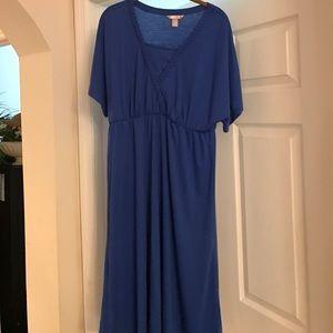 CASUAL SUMMER BLUE DRESS