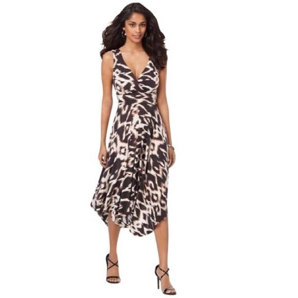 Soma Dresses Sleeveless Scarf Hem Dress Ikat Charm Dress