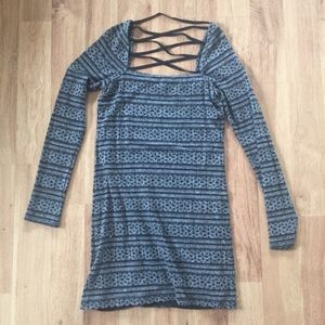 Free People Blue Strappy Back Dress Size Large