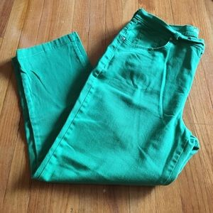 Style & Co Denim - Green Style & Co cropped jeans