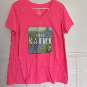 Athletic Works Tops - Good Karma hot pink tee