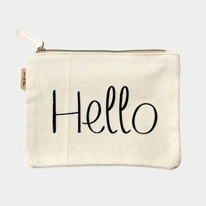 Hannah Beury Handbags - Hello Cotton Canvas Eco Pouch
