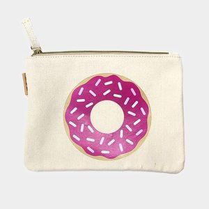 Hannah Beury Handbags - Donut Cotton Canvas Eco Pouch