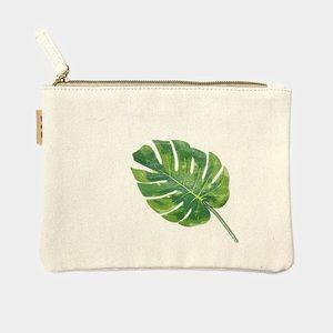Hannah Beury Handbags - Leaf Cotton Canvas Eco Pouch