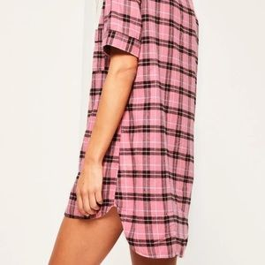 Missguided Other - Misguided pink pajamas xs flannel shirt