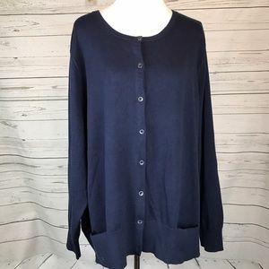 J. Jill Sweaters - J Jill navy blue cardigan sweater plus size Career