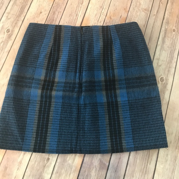 67 gap dresses skirts gap wool blue plaid mini