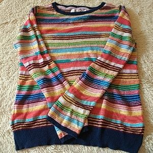 Anthropologie Sheer Striped Sweater by Sparrow