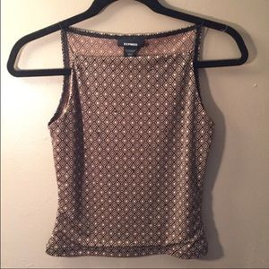 Express Jeweled and Printed Crop Top