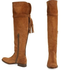 Frye Shoes - NIB Frye Molly Tassel Over the Knee Boots