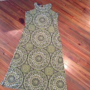 Printed Tank Maxi Dress Plus Size