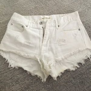 PacSun Pants - BullHead High Rise White Short