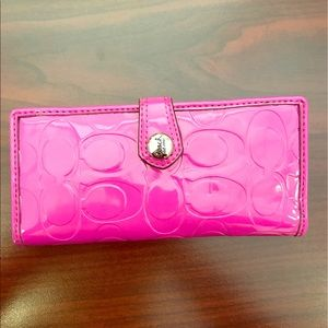 Coach Handbags - Pink Patent Leather Coach Wallet